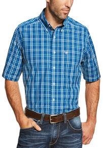 72b410b9 Ariat Men's Blue Short Sleeve Derek Shirt
