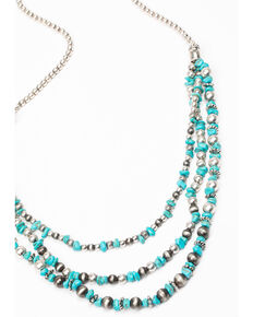 Shyanne Women's Roaming West Layered Turquoise Bead Necklace, Turquoise, hi-res