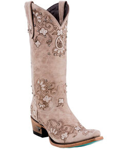 61a176b0f25b3 Lane Women s Sweet Paisley Cowgirl Boots - Snip Toe