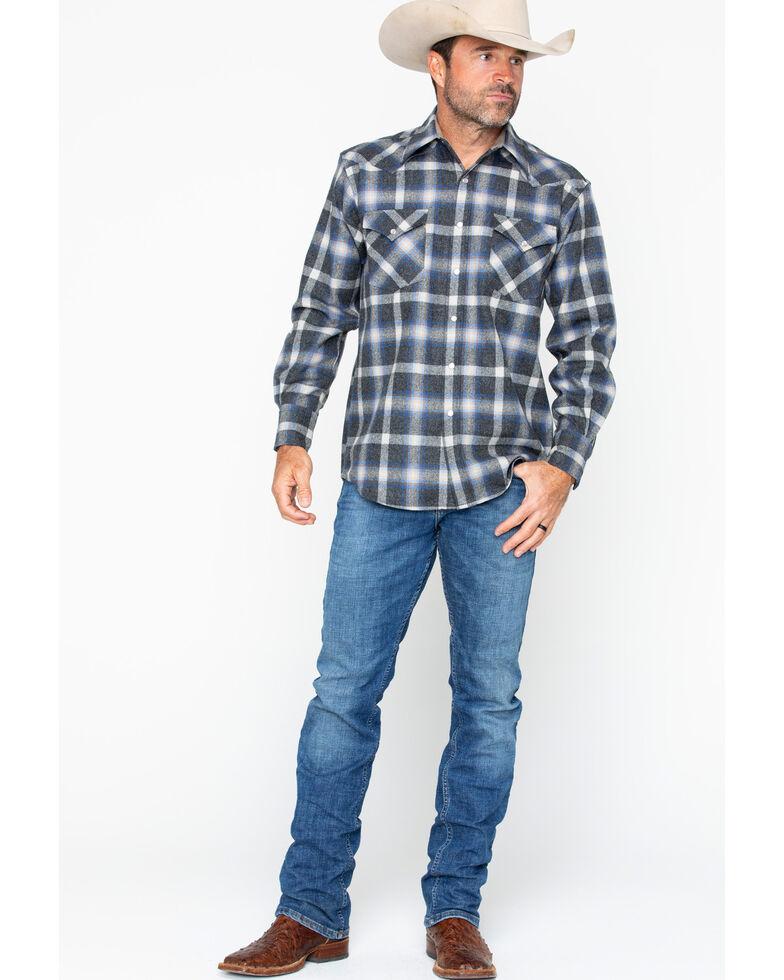 Pendleton Men's Western Wear Wool Canyon Flannel Shirt , Blue, hi-res