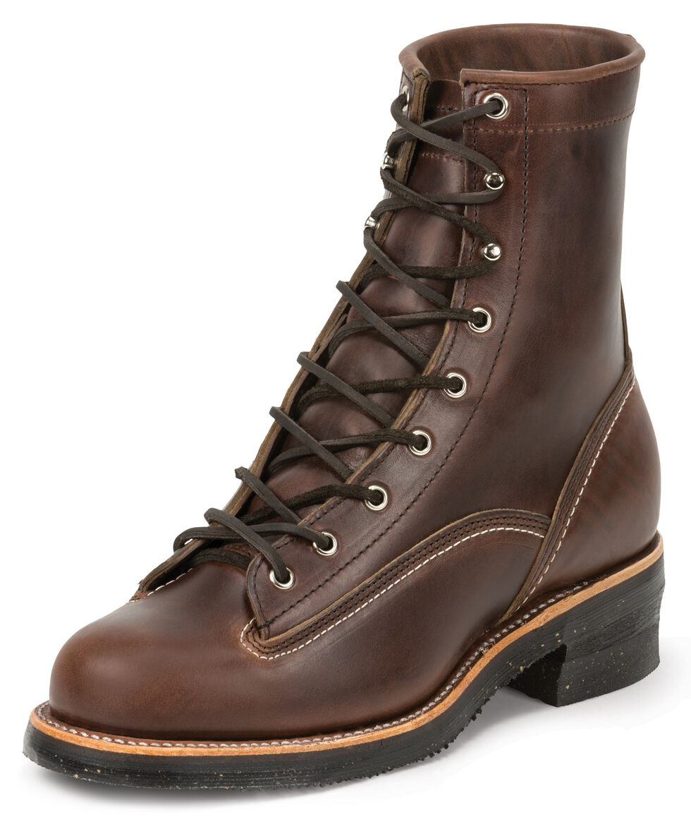 Chippewa Men's 1935 Original Chocolate Mountaineer Logger Boots - Round Toe, Chocolate, hi-res
