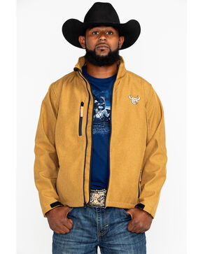 Cowboy Hardware Men's Logo Poly Shell Jacket , Tan, hi-res