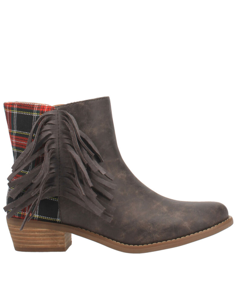Code West Women's Bae Bae Fashion Booties - Round Toe, Charcoal, hi-res