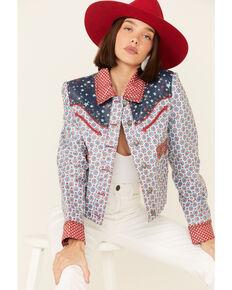Double D Ranch Women's Multi Print Chick Fiddle Button-Front Jacket , Multi, hi-res