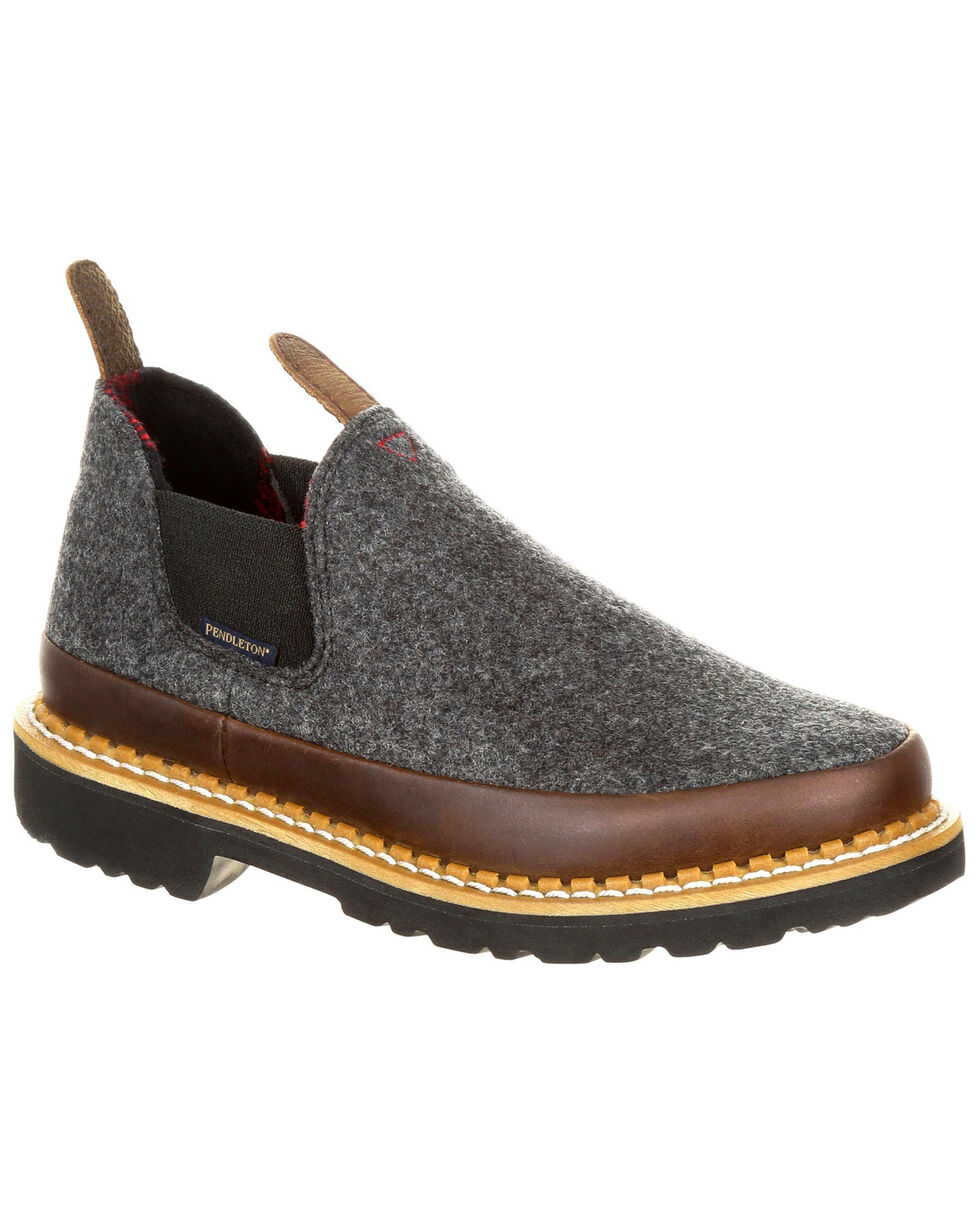 Georgia Boot Youth Boys' Pendleton Romeo Shoes - Round Toe, Slate, hi-res