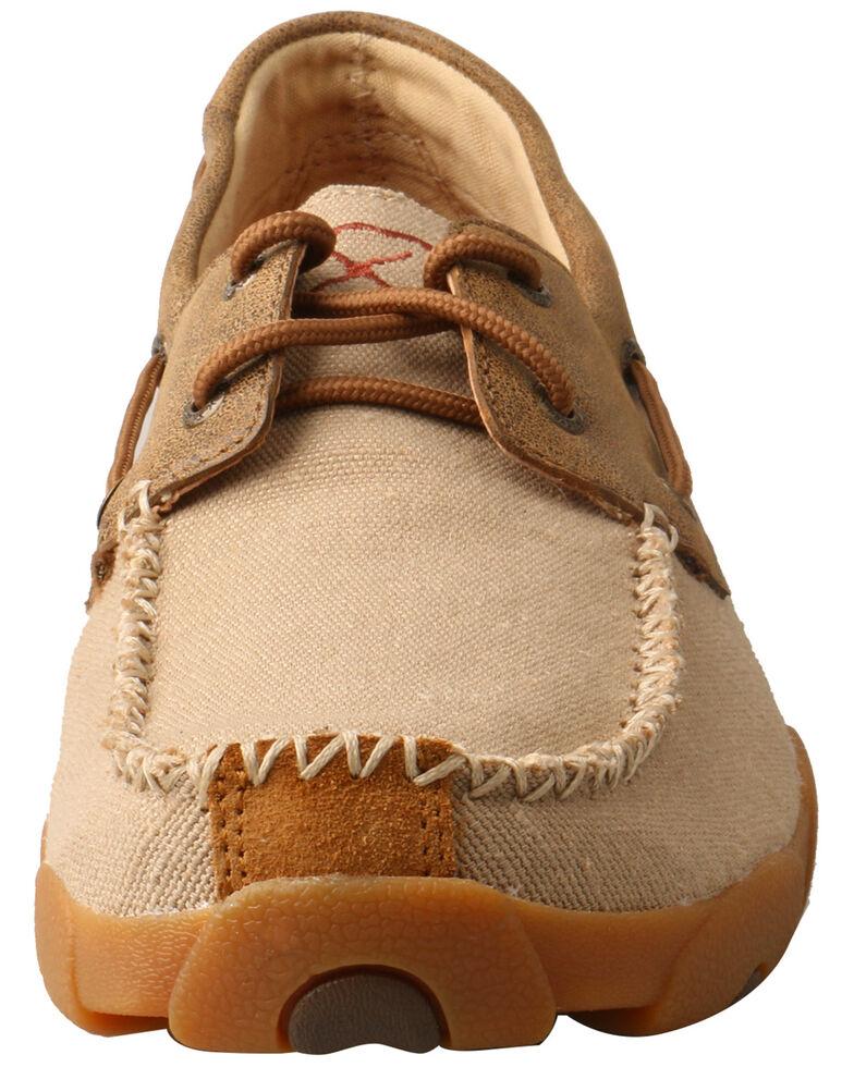 Twisted X Men's Boat Moccasin Shoes - Moc Toe, Beige/khaki, hi-res