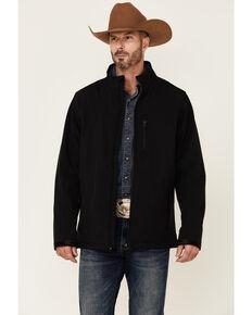 Cody James Core Men's Solid Black CC Zip-Front Softshell Jacket , Black, hi-res