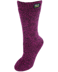 Gold Medal Women's Polar Extreme Heat Marl Socks, Pink, hi-res