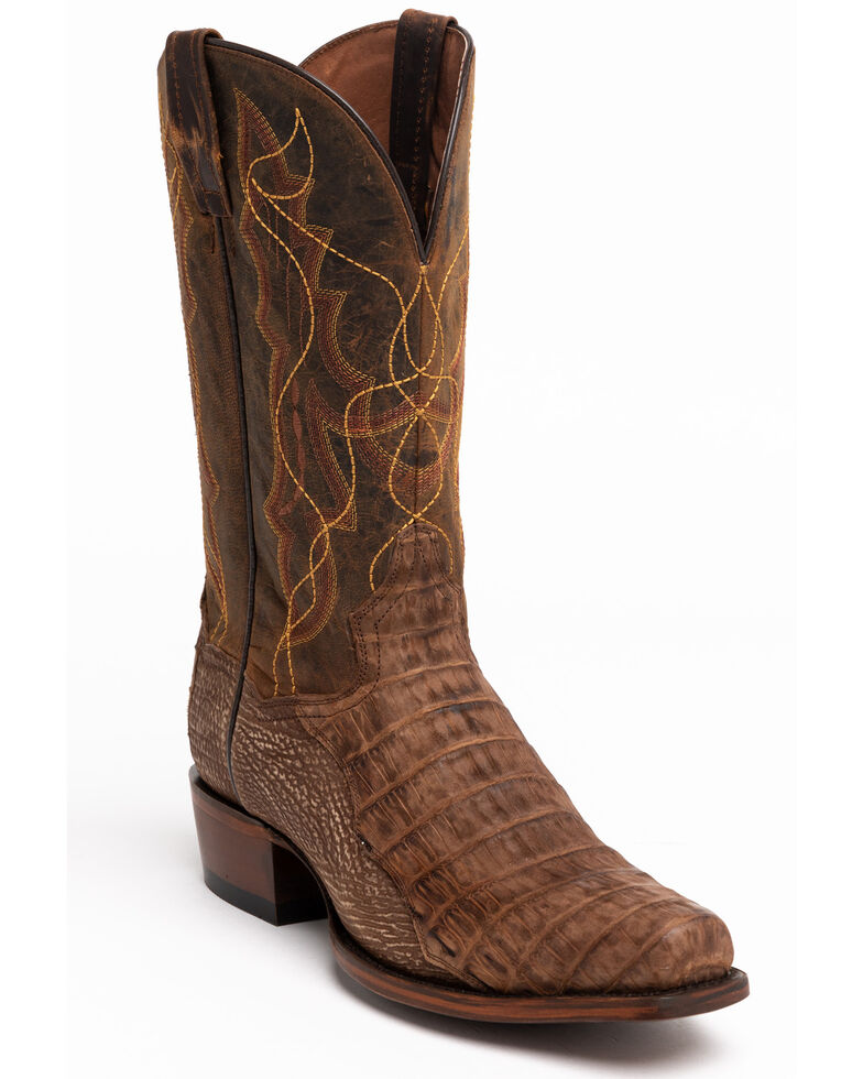 Dan Post Men's Caiman Belly Western Boots - Snip Toe, Brown, hi-res