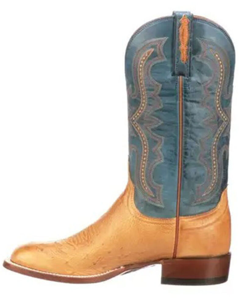 Lucchese Men's Tan Cecil Western Boots - Wide Square Toe, Tan, hi-res