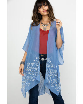 Shyanne Women's Feeling The Blues Shawl, Blue, hi-res