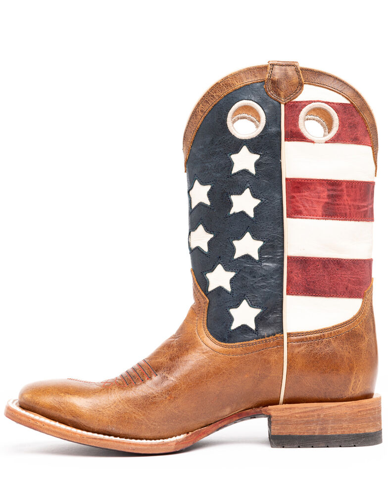 Cody James Men's Lexington Western Boots - Wide Square Toe, Red/white/blue, hi-res