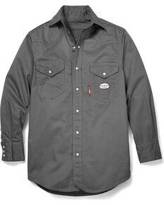Rasco Men's Flame Resistant Long Sleeve Work Shirt - Big & Tall, Grey, hi-res