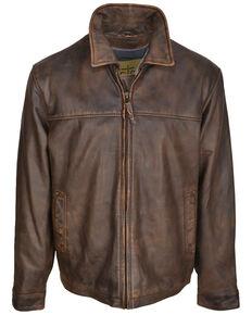 STS Ranchwear Women's Rifleman Leather Jacket - Plus, Brown, hi-res