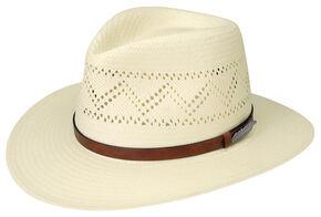 Black Creek Men's Zig-Zag Vent Toyo Straw Hat, Ivory, hi-res