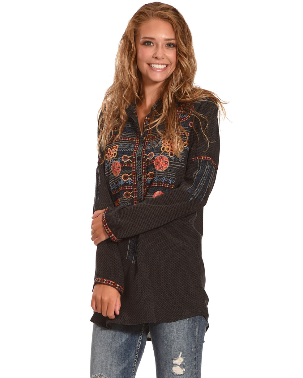 Johnny Was Women's Nomeo Silk Blouse, , hi-res