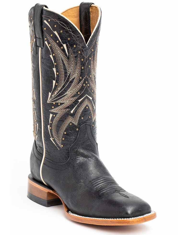 972611cd6c9 Shyanne Women's Studded Black Western Boots - Wide Square Toe