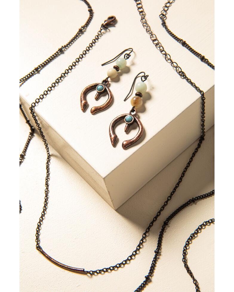 Shyanne Women's Willow Moon Crescent Bead Set, Rust Copper, hi-res
