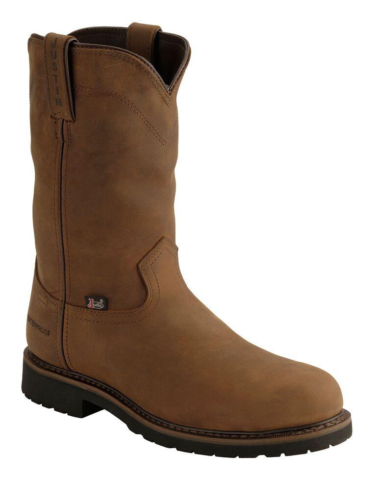 773e7bf0da9 Justin Men's Drywall Waterproof Pull-On Work Boots - Steel Toe