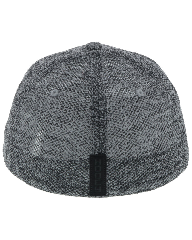 HOOey Men's Grey Tweed Cactus Ropes Flex Fit Cap , Grey, hi-res