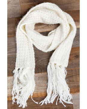 Idyllwind Women's Cozytown Knit Scarf, White, hi-res