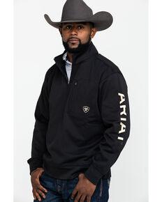 Ariat Tek Fleece 1/4 Zip Pullover, Black, hi-res