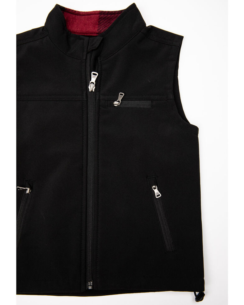 Cody James Toddler Boys' Wrightwood Bonded Zip Vest , Black, hi-res