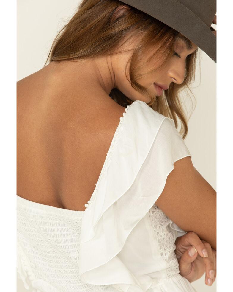 Others Follow Women's Eyelet Acacia Mini Dress, Ivory, hi-res