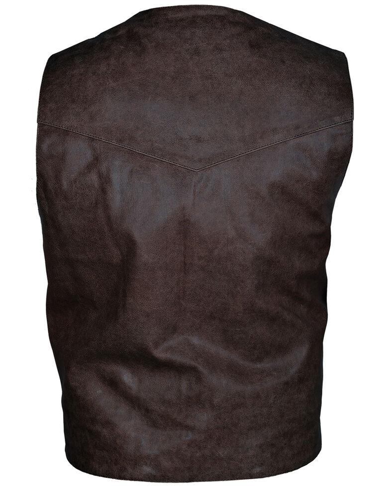 STS Ranchwear By Carroll Men's Brandy Chisum Vest - Big , Burgundy, hi-res