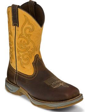 Tony Lama Men's Dusty Junction Work Boots - Steel Toe, Brown, hi-res