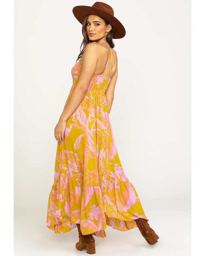 Free People Women's Heat Wave Print Maxi , Dark Yellow, hi-res