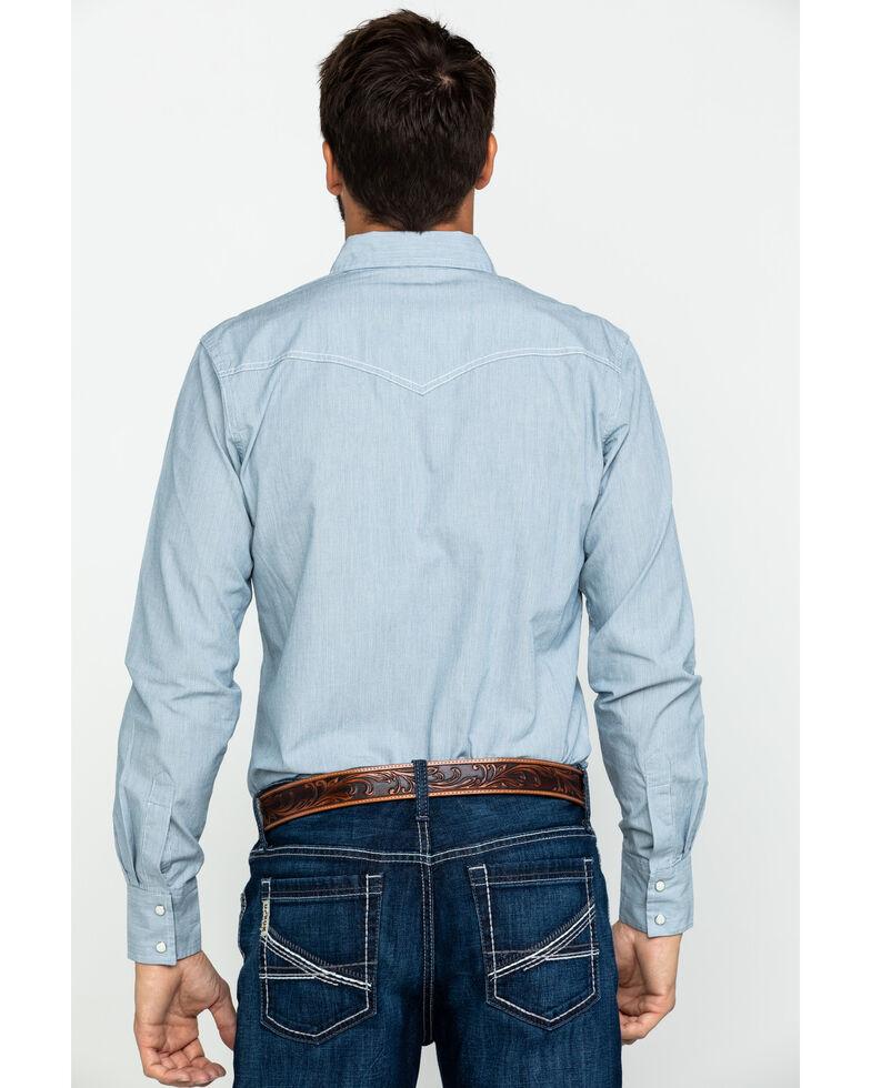 Wrangler Retro Men's Railroad Stripe Print Long Sleeve Western Shirt , White, hi-res