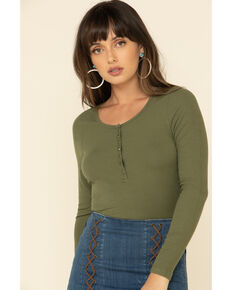 Idyllwind Women's Limelight Ribbed Knit Top , Olive, hi-res