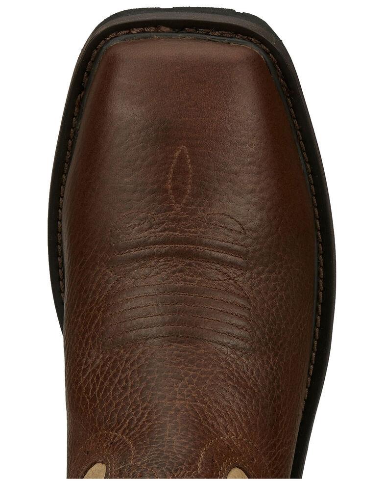 Justin Men's Ricochet Pecan Western Work Boots - Composite Toe, Pecan, hi-res