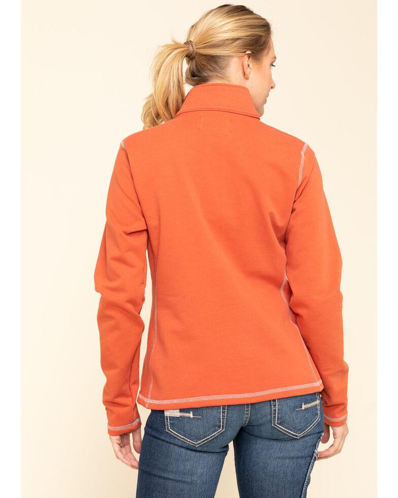 Wrangler Women's FR Orange Fleece Pullover , Orange, hi-res