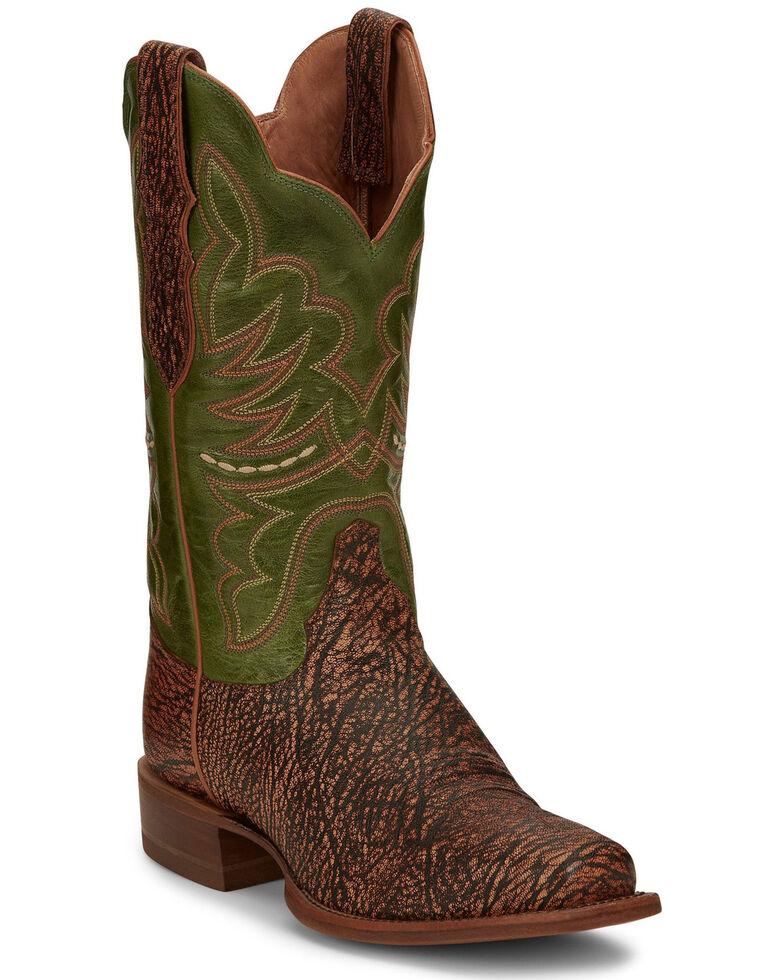 Justin  Women's Rumer Benedictine Western Boots - Wide Square Toe, Multi, hi-res