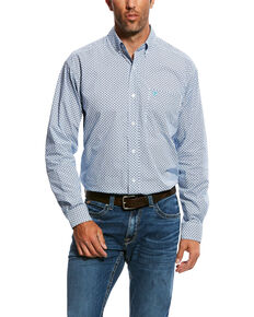 Ariat Men's Nedderman Geo Print Long Sleeve Western Shirt - Big & Tall , White, hi-res