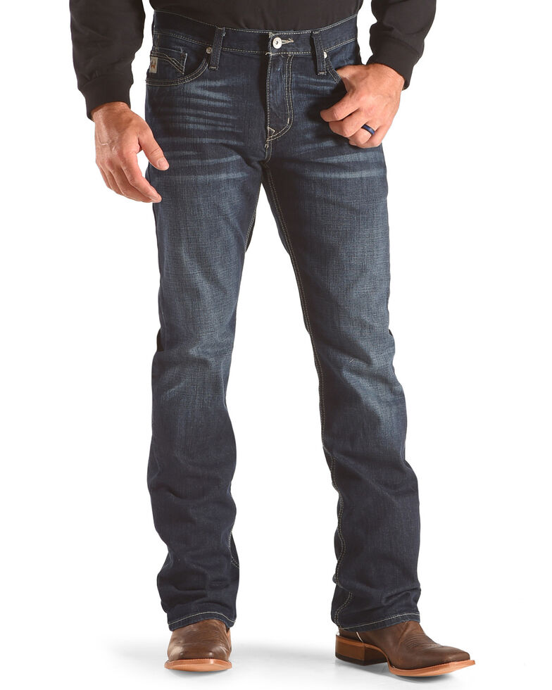 Cinch Men's Ian Western Boot Cut Jeans , Indigo, hi-res