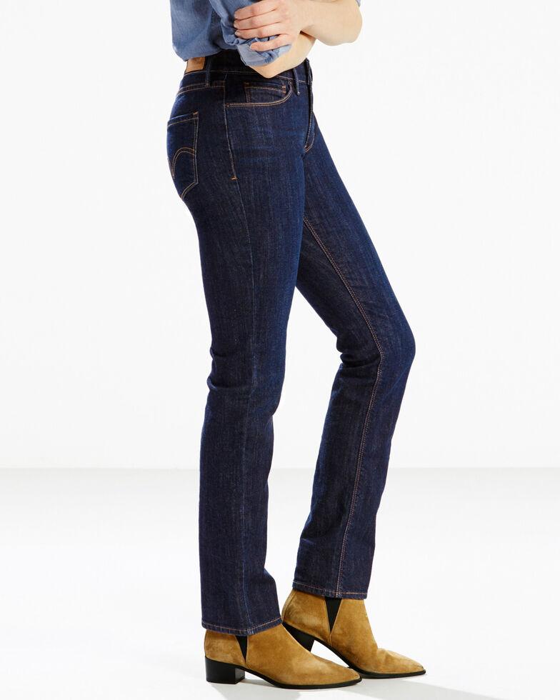 Levi's Women's 525 Blue Springs Perfect Waist Straight Leg Jeans  , Indigo, hi-res