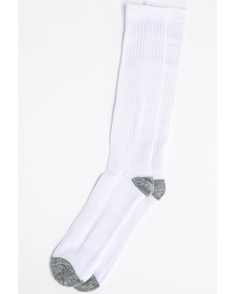 Cody James Men's 3-Pack Solid Boot Socks, White, hi-res