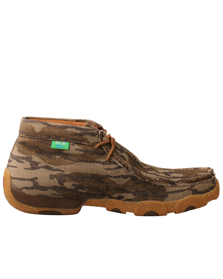 Twisted X Men's Mossy Oak Original Bottomland Driving Moc Shoes - Moc Toe, Camouflage, hi-res