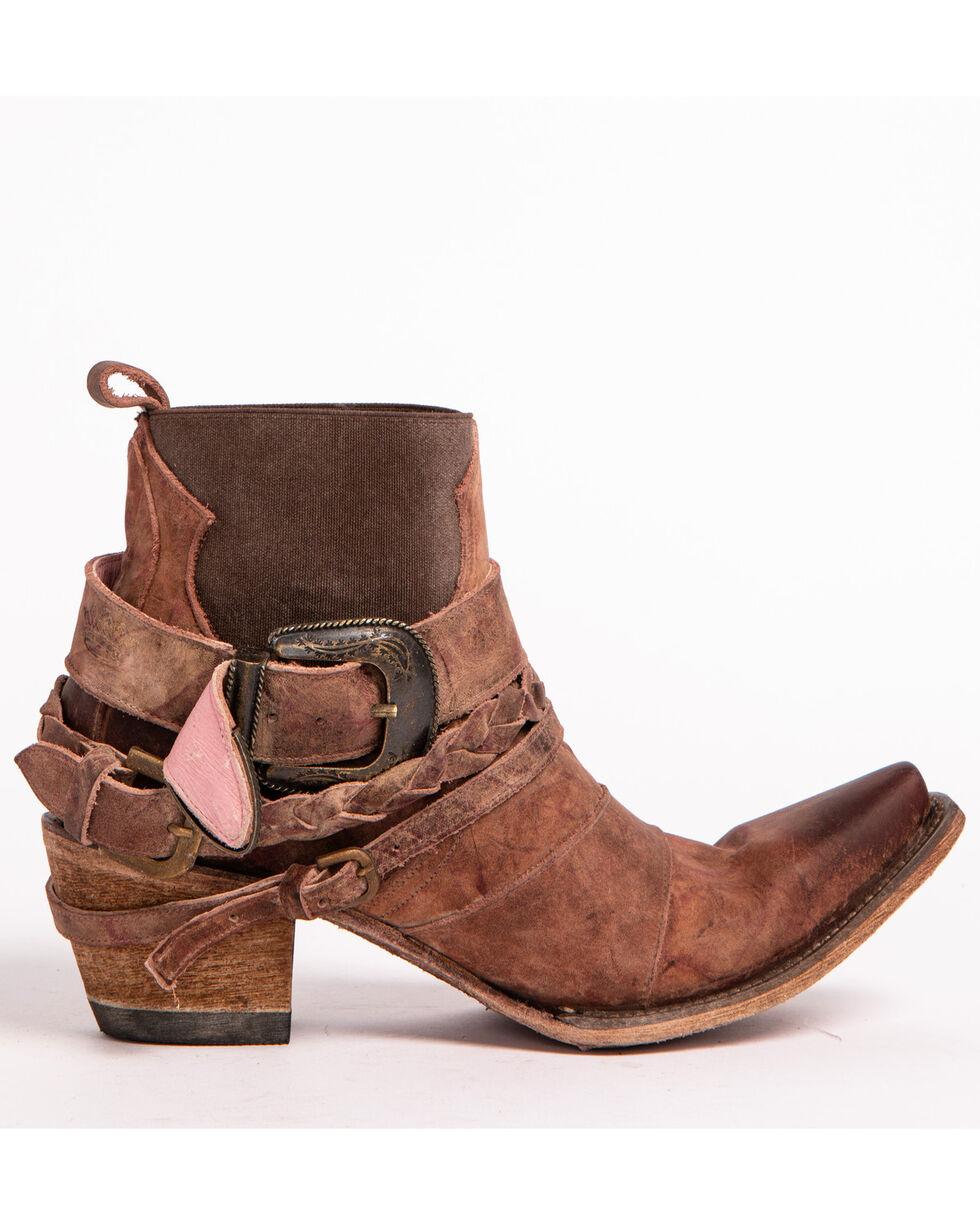 Junk Gypsy by Lane Women's HWY 237 Distressed Booties - Snip Toe, Wine, hi-res