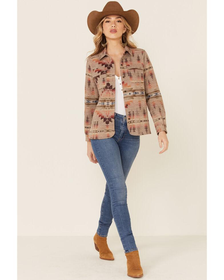 Pendleton Women's Multi Aztec Jacquard Wool Long Sleeve Button-Down Western Core Shirt , Multi, hi-res