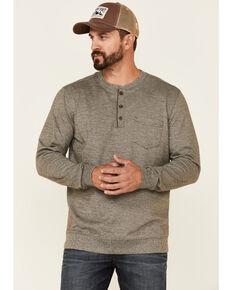 Moonshine Spirit Men's Light Brown Upper Lodge Long Sleeve Henley Pocket T-Shirt, Brown, hi-res
