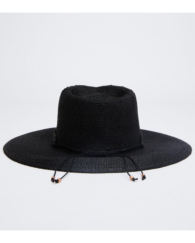 Nikki Beach Women's Black Twilight Toyo Straw Rancher Hat , Black, hi-res