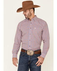 Ariat Men's Berto Aztec Print Long Sleeve Button-Down Western Shirt , Multi, hi-res