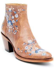 Shyanne Women's Tillie Fashion Booties - Round Toe, Brown, hi-res