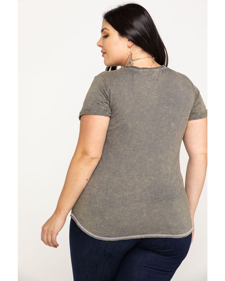 White Label by Panhandle Women's Grey Rodeo Graphic Tee - Plus, Grey, hi-res