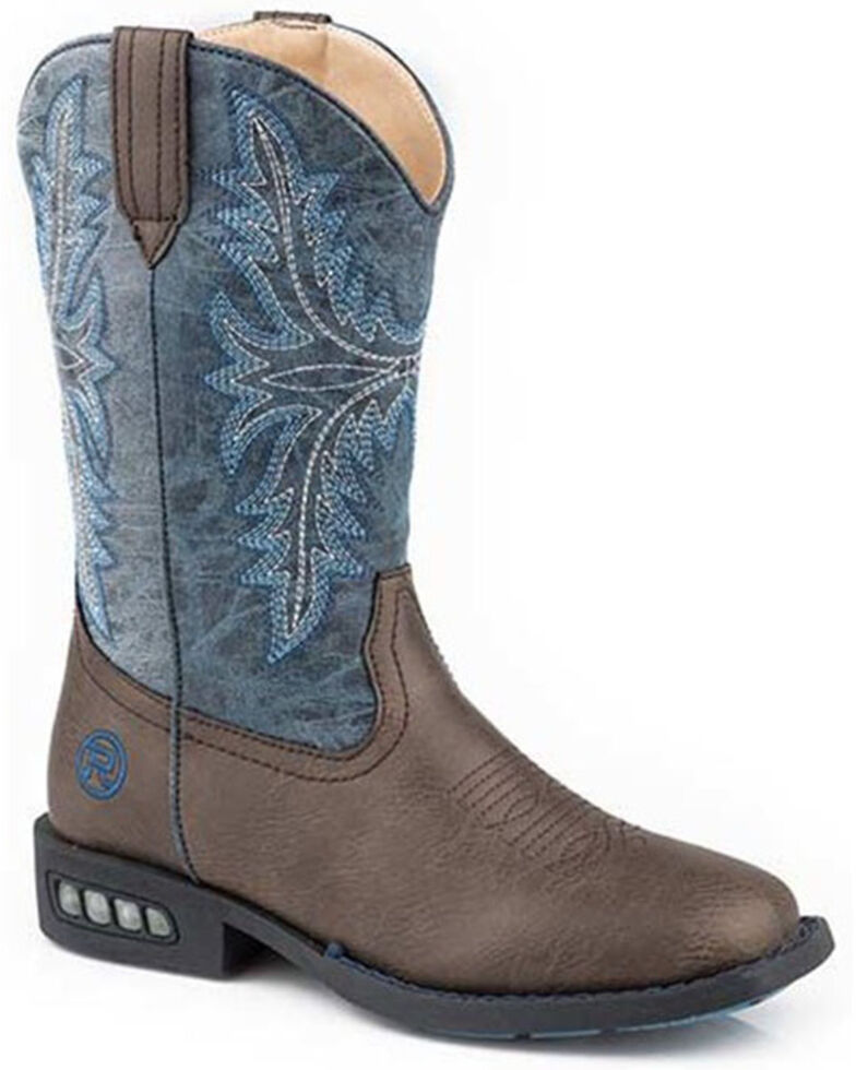 Roper Toddler Girls' Dazzle Western Boots - Square Toe, Brown, hi-res