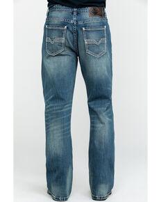 Rock & Roll Denim Men's Small V Stitch Relex Double Barrel Boot Jeans , Blue, hi-res